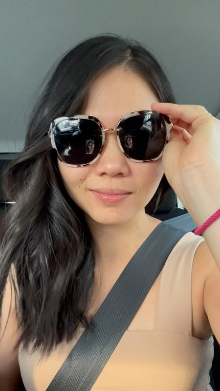 Oversized sunglasses, tortoise sunglasses, white sunglasses, cateye sunglasses from Amazon — I think these are great for round faces. Love them so much I have them in two colors!   Amazon fashion, Amazon finds.  #LTKGifts #LTKstyletip #LTKunder50