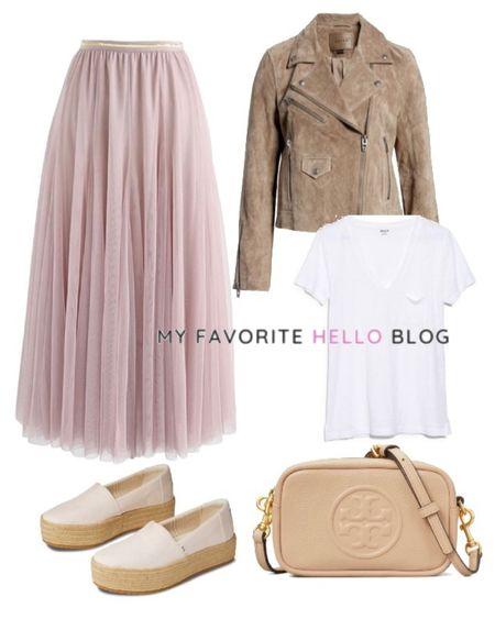 Tulle skirt outfit spring. Pink tulle skirt with neutral espradrille shoes. #liketkit @liketoknow.it http://liketk.it/3g7JM #tulleskirt #nordstrom #chicwish #ltkspring  #LTKstyletip #LTKunder50 #LTKunder100