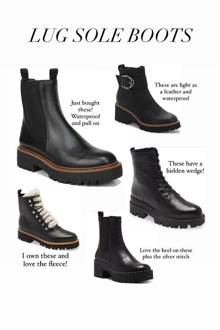 LUG SOLE BOOTS! All are TTS unless you wear thick socks. If so,  size up 1/2 size.    #LTKSeasonal
