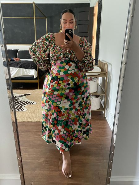 Plus size Anthropologie dresses. Size inclusive. Wearing a 2X in this dress     #LTKcurves