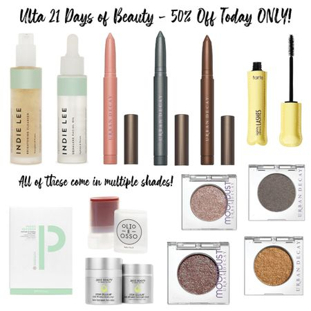 Ulta is having a huge sale with so many beauty goodies that are HALF OFF TODAY ONLY!! This Indie Lee brightening cleanser is amazing. I ordered myself another! There are so many beautiful shades of urban decay eyeshadow and my favorite Tarte mascara I've used for years!   Follow my shop on the @shop.LTK app to shop this post and get my exclusive app-only content!  #liketkit #LTKbeauty #LTKunder50 #LTKsalealert @shop.ltk http://liketk.it/3nr2X  #LTKunder50 #LTKbeauty #LTKsalealert