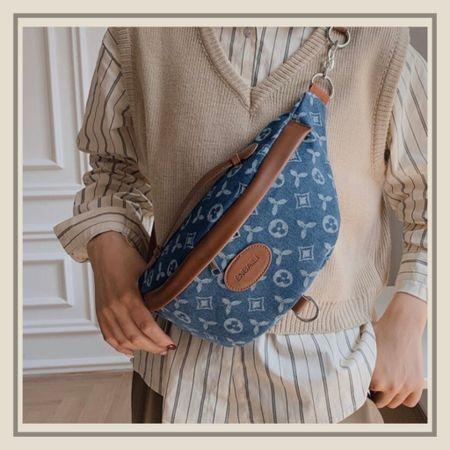 Geo graphic fanny pack bag  #LTKitbag #LTKunder50 #LTKstyletip