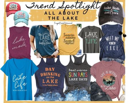 Living the lake boat life, drinking, cottage, vacation, #lakelife  tees tanks shirts t-shirts, fashion style, graphic shirt - Mom, lake outfit, boat hair don't care! Spring break, summer getaway!   Screenshot this pic to get shoppable product details with the LIKEtoKNOW.it shopping app make sure you follow FrugalDealsDelivered for more ideas and collage inspiration!    http://liketk.it/3doJP   #liketkit @liketoknow.it #LTKkids #LTKfamily #LTKstyletip @liketoknow.it.family