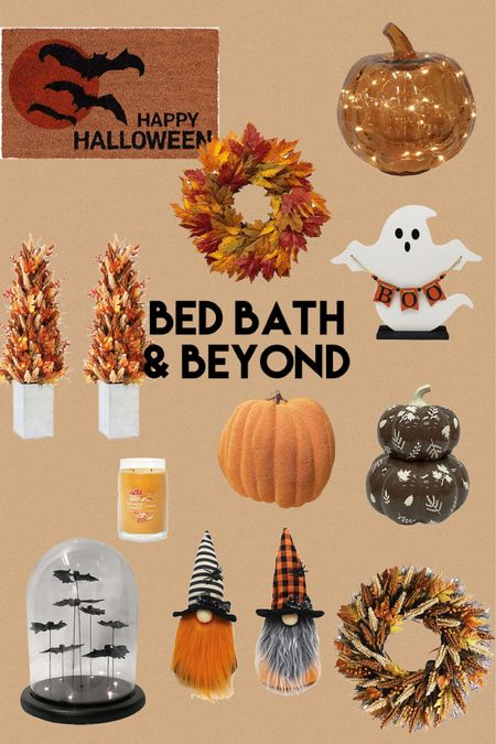 Bed bath & beyond fall and Halloween decor!   #LTKhome #LTKsalealert #LTKHoliday