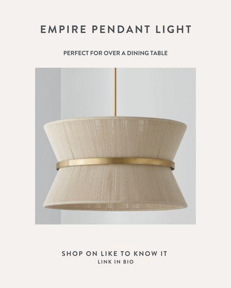 Pendant light, woven light, modern light, dining room light, Champagne and Chanel inspired   #LTKhome