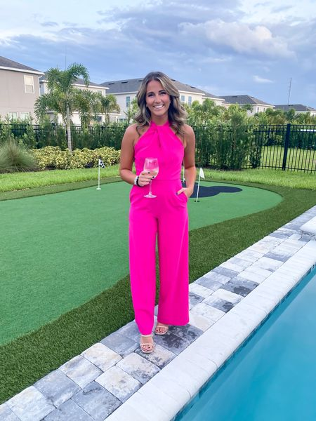 Ready to #parTAY 🥳 this jumpsuit is available in black & red right now and it would be SO cute for a fall/winter wedding! Im wearing my true size 2!   #LTKwedding #LTKunder100 #LTKunder50