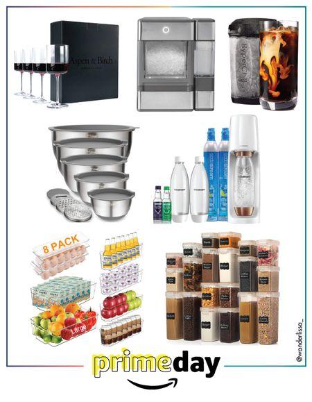 Prime Day Home Finds ⚡️  #soda stream #Kitchen bowls #Organizationalbins #icemachine #hyperchiller #wineglasses  #LTKhome #LTKunder50 #LTKsalealert