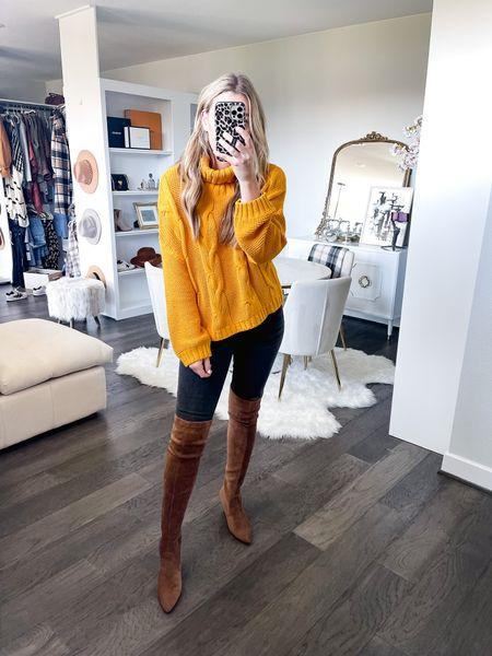 Chunky knit sweater from amazon! Size small!   #LTKstyletip #LTKsalealert #LTKunder50