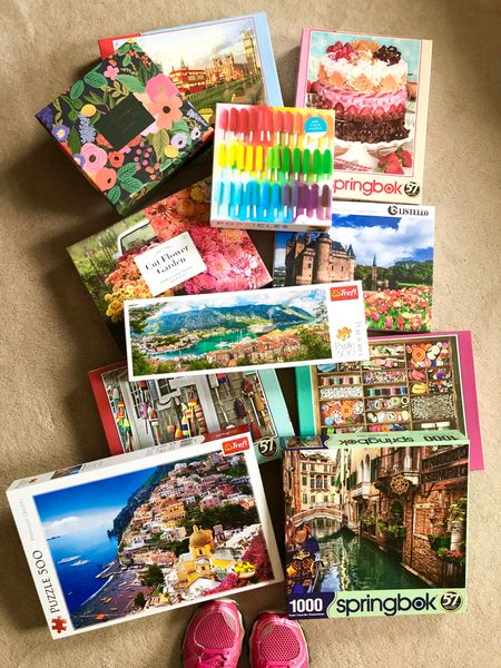 We've so been enjoying working puzzles together this winter! Here's a round up of the puzzles we have worked recently! http://liketk.it/3b48B #liketkit @liketoknow.it #LTKunder50 #LTKhome #StayHomeWithLTK #puzzles #jigsawpuzzle #familyfun #datenightathome Follow me on the LIKEtoKNOW.it shopping app to get the product details for this look and others