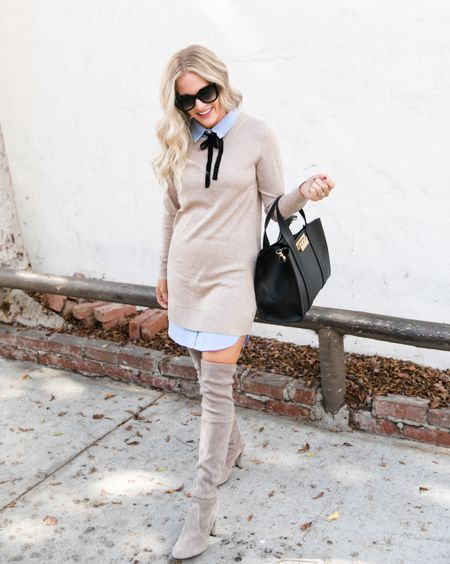 Sweater weather has arrived babes! I always love a cute sweater dress! Especially affordable sweater dresses and sweater sets 😍 when paired with a pair of otk over the knee boots! Such an easy fall outfit perfect for workwear or thanksgiving outfit! http://liketk.it/2EHvN #liketkit @liketoknow.it #LTKunder50 #LTKstyletip #LTKshoecrush #LTKsalealert #LTKunder100 #LTKitbag