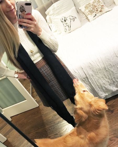 O u t f i t  o n  r e p e a t ❤️ I've literally worn basically this exact outfit to school at least three times 💁🏼 The skirt that I've been eyeing that's similar to this one is on sale for nearly 50% off and there are VERY few sizes left! Plus, these black OTK boots are honestly so perfect 😍 Linked both up for you. Also can we talk about my sweet Charlie bear? Love him 😍🐻🐾 http://liketk.it/2uc1D #liketkit @liketoknow.it