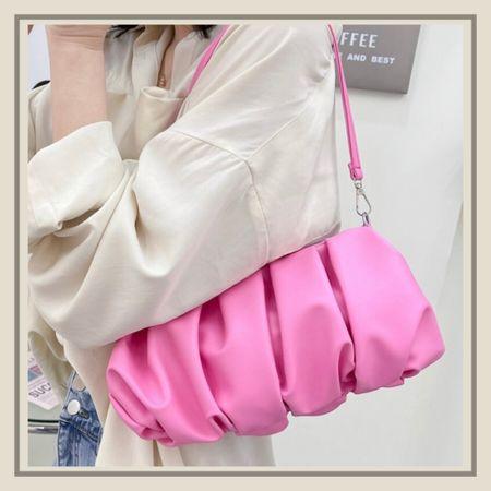 Pink minimalist ruched purse  #LTKunder50 #LTKitbag #LTKstyletip
