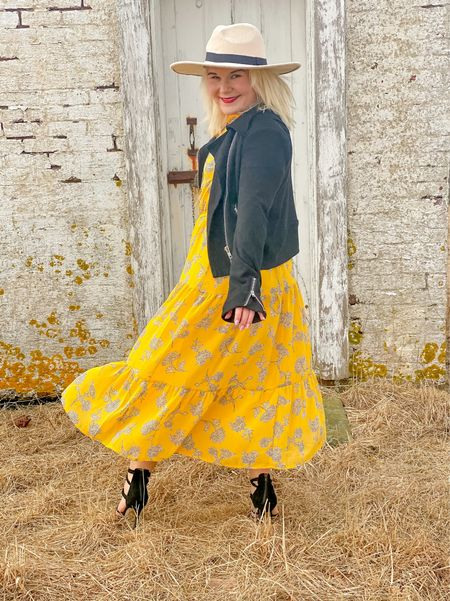 Autumn yellow.  This color is u fortunately sold put, but it comes in three other gorgeous so hades that are all must haves! Fit is true to size.  #LTKSeasonal #LTKworkwear #LTKwedding