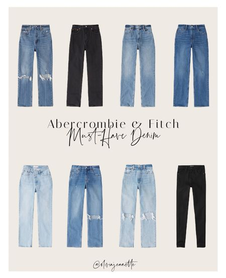 Abercrombie & Fitch denim must-haves from ripped denim to everyday classics. 💙   #LTKunder100 #LTKSeasonal
