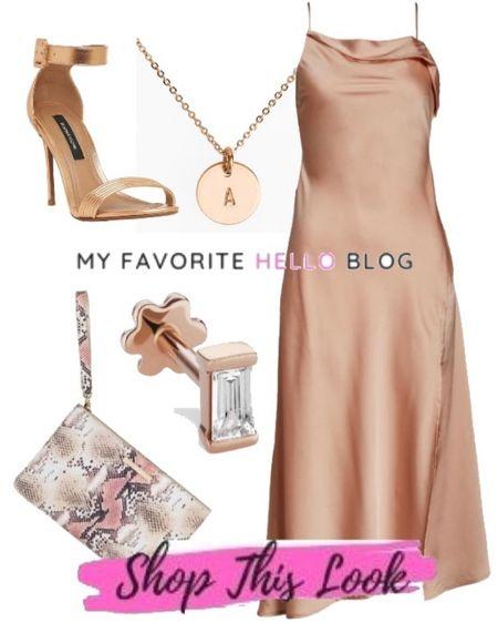 Wedding guest dresses outfit. Satin Blush dress for wedding guest outfit http://liketk.it/3hPaZ #liketkit @liketoknow.it #weddingguest #weddingoutfit #blushdress  #LTKstyletip #LTKshoecrush #LTKwedding