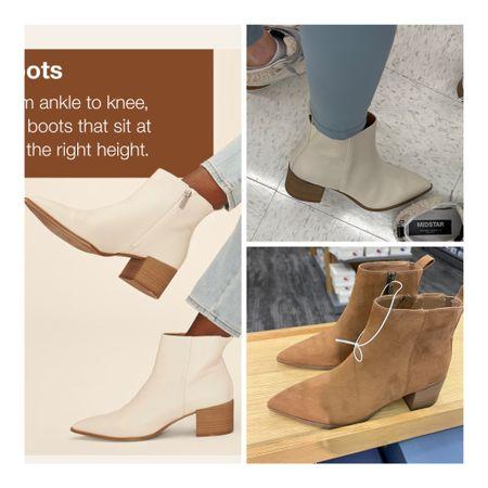 """The cutest boots under $40 at Target - I got the """"bone"""" colored ones   #LTKsalealert #LTKunder50 #LTKunder100"""