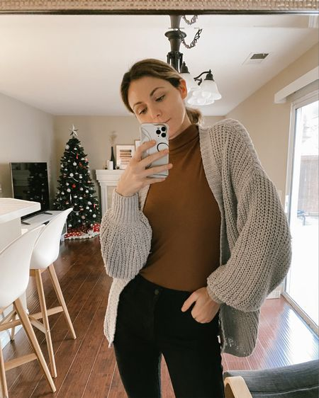 Casual cozy outfit I like to wear while I'm at home. Also perfect for for zoom meetings, because turtlenecks are chic.   #LTKstyletip #LTKunder100 #LTKunder50