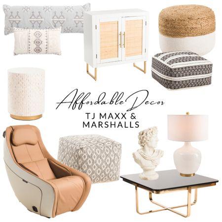 Massage chair, tjmaxx, ottoman, pouf, pillow, coffee table, lamp, bust   http://liketk.it/3hn26 #liketkit @liketoknow.it #LTKsalealert #LTKstyletip #LTKfamily @liketoknow.it.home