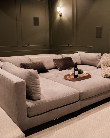 Home theater, sofa, pit couch, moody, green, Wayfair, electronics    http://liketk.it/3gdDW #liketkit @liketoknow.it #LTKfamily @liketoknow.it.home #LTKstyletip #LTKhome