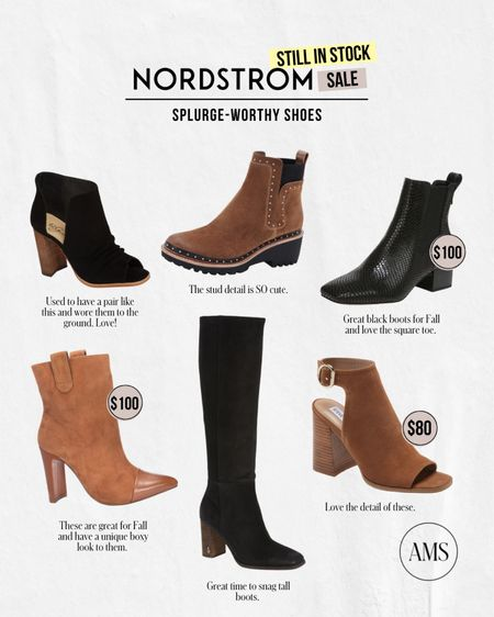 NORDSTROM ANNIVERSARY SALE ⭐️ Still in Stock: Shoes!  Fall and winter must-have booties that I think are worth the price!   #LTKshoecrush #LTKunder100 #LTKsalealert