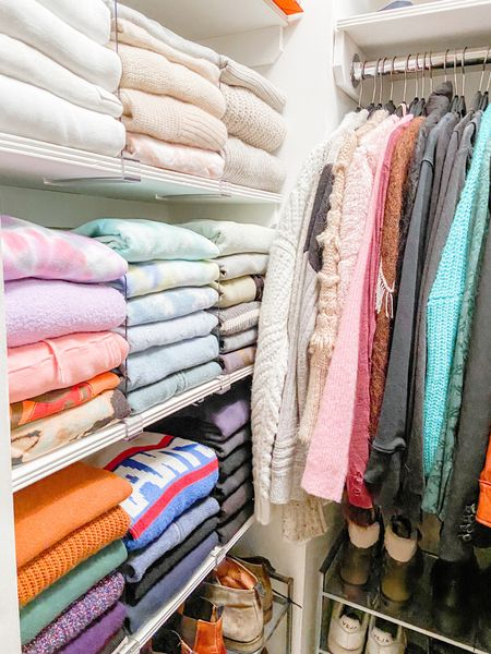 Before, during, and after...just not in that order . . . ,  http://liketk.it/34FgS #liketkit @liketoknow.it #StayHomeWithLTK #LTKhome #LTKunder50   #organize #organized #organization #homeorganization #closetorganization #closet #seasonal #sweaters #foldingclothes #satisfying