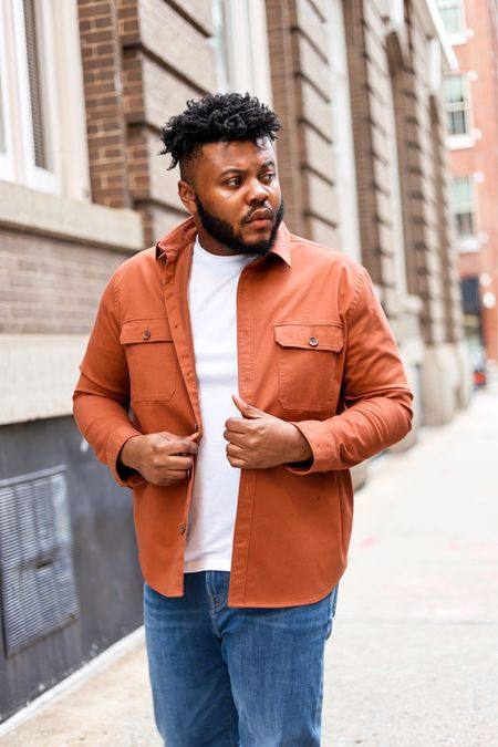 I partnered up with @express to share two ways wear orange this Spring. For look paired a solid shirt jacket tee and jeans. This is perfect for lightweight layering chilly Spring weather.  As photographer, like clothes that move me so can catch different angles. These jeans have lot of stretch they easily pass the squat test. could see myself wearing these work play. #ExpressYou #ExpressPartner  #LTKstyletip #LTKmens
