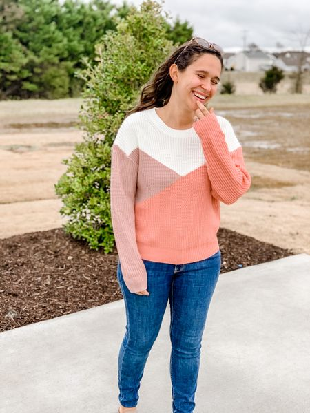 Colorblock sweater  #LTKunder50 #LTKSeasonal