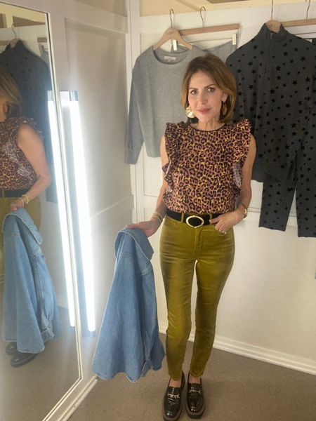 Sharing this fabulous fall outfit from @loft that is on major sale today.  Fall colors, fall fashion, leopard blouse, citrine cords, denim Shacket, loft look, loft fall outfit  #LTKsalealert #LTKunder50 #LTKstyletip