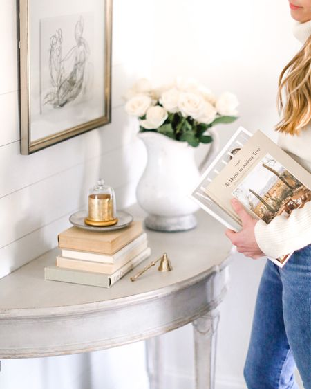 Slow Sunday morning // An affordable spring refresh how to is coming to natalieyerger.com later this week! In the meantime, books, vases, and candles to lighten up your entryway. http://liketk.it/2KHhx #liketkit @liketoknow.it #LTKunder100 #LTKspring #LTKhome @liketoknow.it.home
