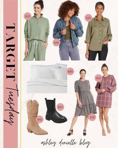 Target Tuesday finds - quilted jacket, bedding, boots, sweater dresses + more!   #LTKSeasonal #LTKstyletip #LTKshoecrush