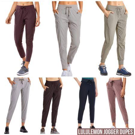Lululemon Jogger Dupes  #lululemon #dupe #Styleblogger #gym #workout #lounge #loungewear #bloggerstyle #affordablestyle  #LTKFall #LTKstyletip #LTKfit @liketoknow.it #liketkit http://liketk.it/30n9Q