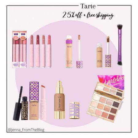 25% off + free shipping on Tarte Cosmetics website!   #LTKSale #LTKbeauty #LTKGiftGuide