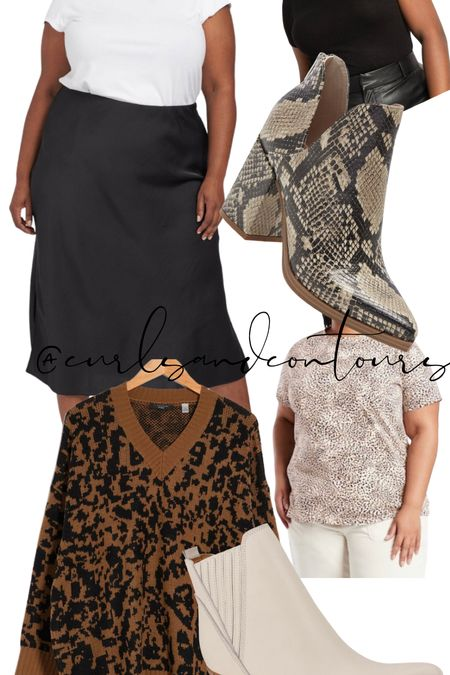 Styling a slip skirt 3 ways! Plus size fall fashion!   #LTKstyletip #LTKSeasonal #LTKcurves