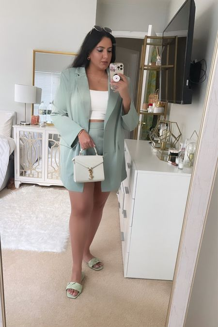 Summer co-ord blazer set from shein  Luxury and affordable outfit  #LTKbacktoschool #LTKcurves #LTKstyletip
