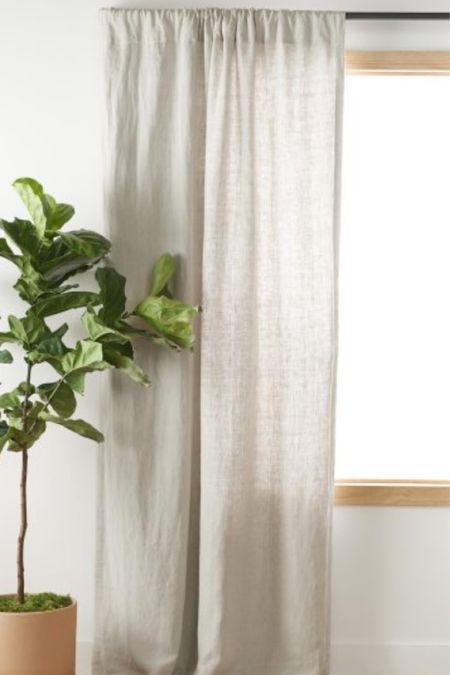 The prettiest linen curtains   #LTKhome #LTKSeasonal #LTKstyletip