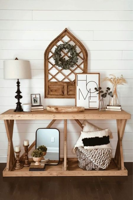 How to decorate a front entry table: ✨add an anchor piece ✨create layers & height ✨mix textures ✨fill in any gaps ✨have fun (most importantly)! • Decorating doesn't have to be hard, my friend! That's why you have me 😘 • • •  http://liketk.it/30Od8 #liketkit @liketoknow.it #LTKunder100 #LTKunder50 #LTKstyletip @liketoknow.it.home  Follow me on the LIKEtoKNOW.it shopping app to get the product details for this look and others