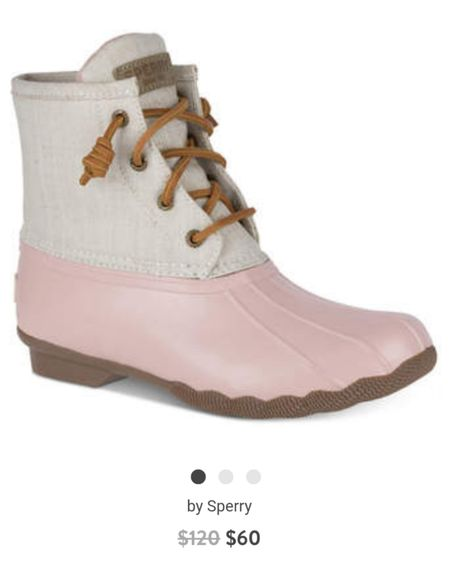 Sperry saltwater boots in gorgeous spring colors for 50% off right now!   http://liketk.it/2K1rg @liketoknow.it #liketkit #LTKstyletip #LTKunder50 #LTKunder100 #LTKsalealert Shop your screenshot of this pic with the LIKEtoKNOW.it app. Follow FigAndRoses 💋
