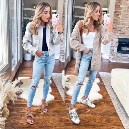 Cardigan size Xs jacket size Xs jeans size 24 short   #LTKunder50 #LTKsalealert #LTKunder100