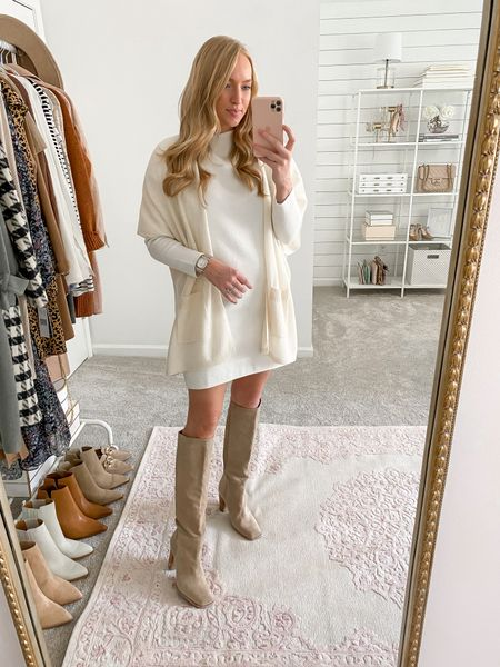 Cream cashmere wrap in stock in the Nordstrom Anniversary Sale- you can style this piece year round and I love having a short sleeve layering piece to drape over thicker fabrics that wouldn't work under a cardigan       #LTKstyletip