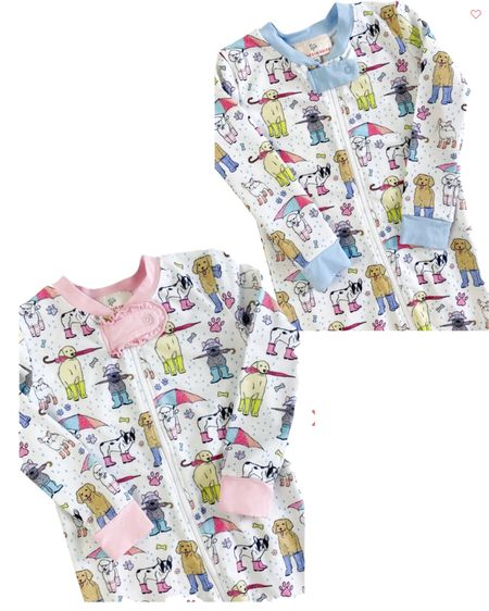 Smockingbird Puppy Puddle Pajamas Children pajamas Matching pajamas    #LTKkids #LTKbaby #LTKunder50