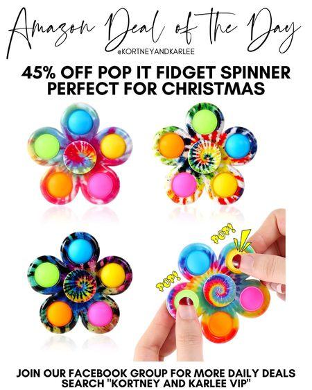 Amazon Deal of the Day!! 45% off pop it fidget spinners! Perfect for Christmas or for stocking stuffers!   Amazon daily deal | amazon deal | amazon beauty | amazon finds | amazon favorites | amazon lightening deal | Kortney and Karlee | #kortneyandkarlee #LTKunder50 #LTKunder100 #LTKsalealert #LTKstyletip #LTKSeasonal #LTKhome @liketoknow.it #liketkit