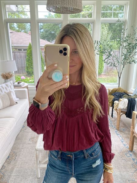 Cutest top for under $30!! Love this color for fall or even thanksgiving!! Wearing an xsmall!   #walmartfinds #fallfashion  #LTKstyletip #LTKunder50
