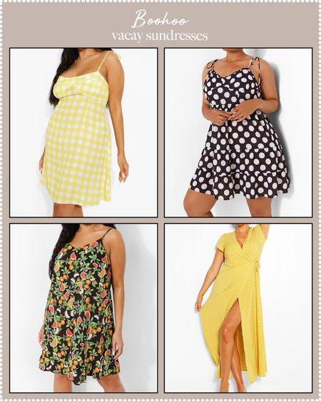 plus-size dresses for vacation at boohoo on sale!  #LTKDay #LTKcurves #LTKtravel