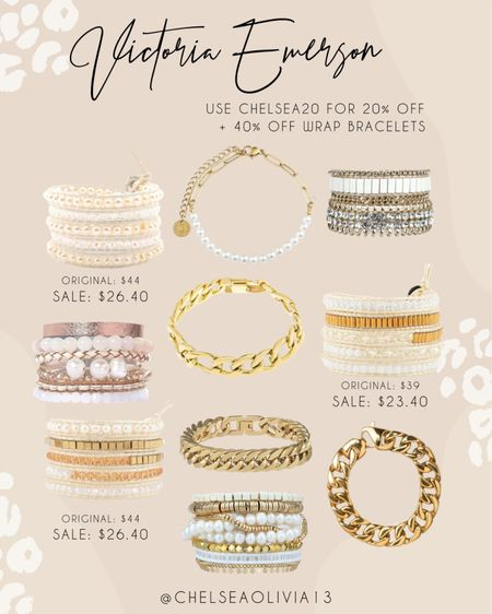 Victtoria emerson bracelets on sale 40% off use code 20Chelsea for gold and off the entire site!   #LTKHoliday #LTKSeasonal #LTKGiftGuide
