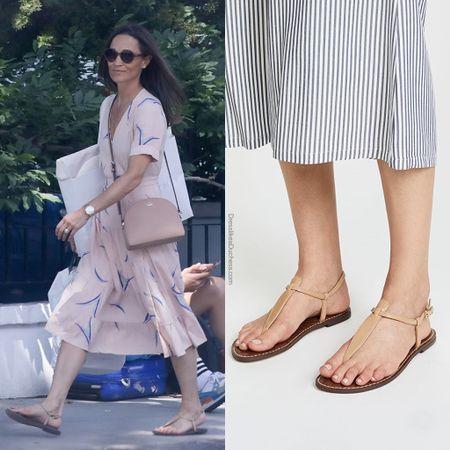 Pippa wearing Sam edelman Gigi sandal #tstrap #flats #nordstromrack  #LTKstyletip #LTKshoecrush