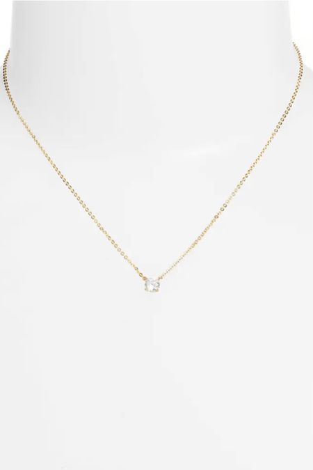 Beautiful dainty necklace that looks expensive, classy and timeless for just $29 🤯 love this item! It is also a perfect necklace for layering with others 🙌 If you don't believe me, check out the amazing reviews ⭐️⭐️⭐️⭐️⭐️ #LTKunder50 #LTKwedding #LTKworkwear