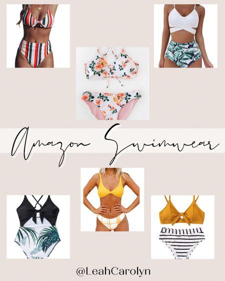 Amazon swimwear, bikini, bathing suit, summer look, summer outfit, beach day, sale, prime day  #LTKstyletip #LTKunder50 #LTKswim