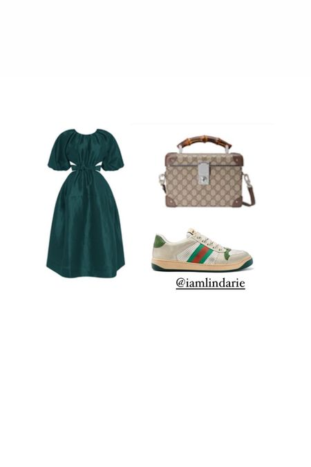 Low sneakers are ideal for pairing with dresses. The look allows for a casual yet chic feel.  #LTKstyletip #LTKshoecrush
