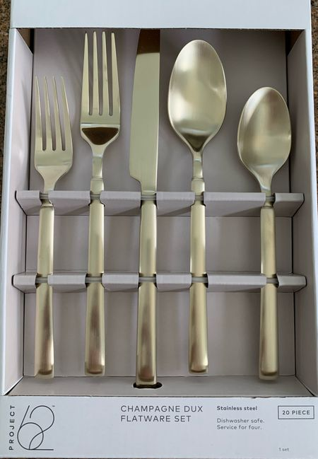 Completely obsessed with my Project62 champagne flatware from @target! http://liketk.it/3ebhe #liketkit @liketoknow.it #LTKunder50 #LTKhome #LTKfamily @liketoknow.it.home Shop my daily looks by following me on the LIKEtoKNOW.it shopping app #goldsilverware #LTKseasonal #competition