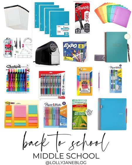 Back to school middle school supplies!  Lilly Jane Blog | #LollyJaneBlog #LTKunder100 #LTKunder50 #LTKkids @liketoknow.it #liketkit http://liketk.it/3jQO1